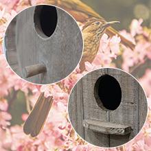 Hanging Bird Houses for Outdoor-Patio Garden Decorative Wooden BirdHouse Pet Cottage