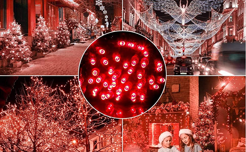 Commercial Grade for Outdoor and Indoor AIDDOMM LED Christmas Lights 50 Counts