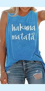 Hakuna Matata Letter Printed Top Tees
