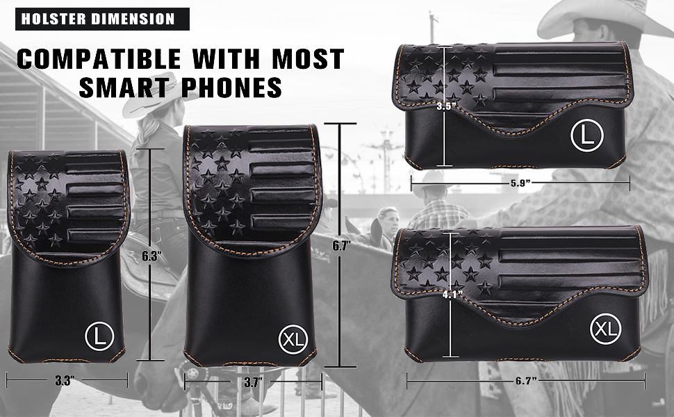 dimension of phone holster