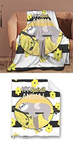 My Spirit Animal Sloths Throw Blanket