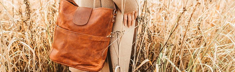 shopper leder umhängetasche damen ledertasche handtasche