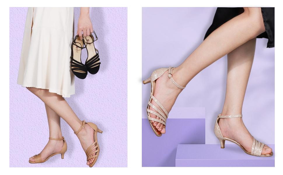 IDIFU strappy heel sandals