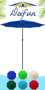 9ft 8 Ribs Patio Umbrella