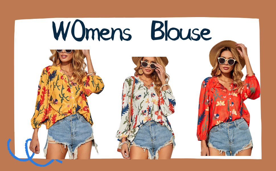 Womens V Neck Roll up Long Sleeve Button Down Blouses