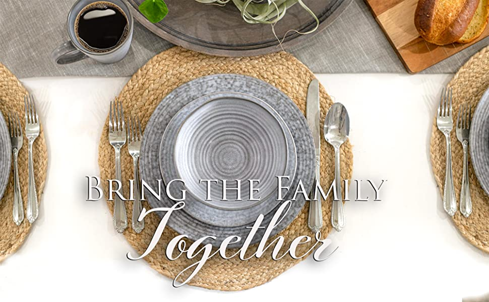 Modern and rustic dishware sets that will serve the whole family and are a standout addition