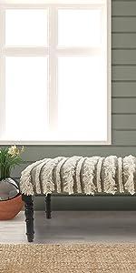 bench, overtufted, fringe, furniture, accent,