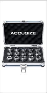 Accusize 15 Pc ER25 Collets Set 0223-0835
