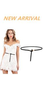 Women Skinny Leather Knot Belts