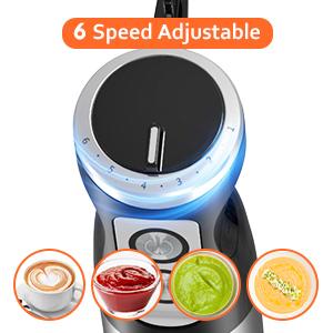 6 speed adjustable