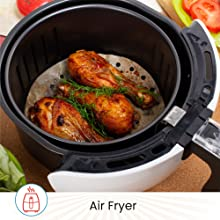 air fryer grilling parchment perforated