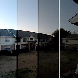 argus 3 pro + panneau solaire time lapse