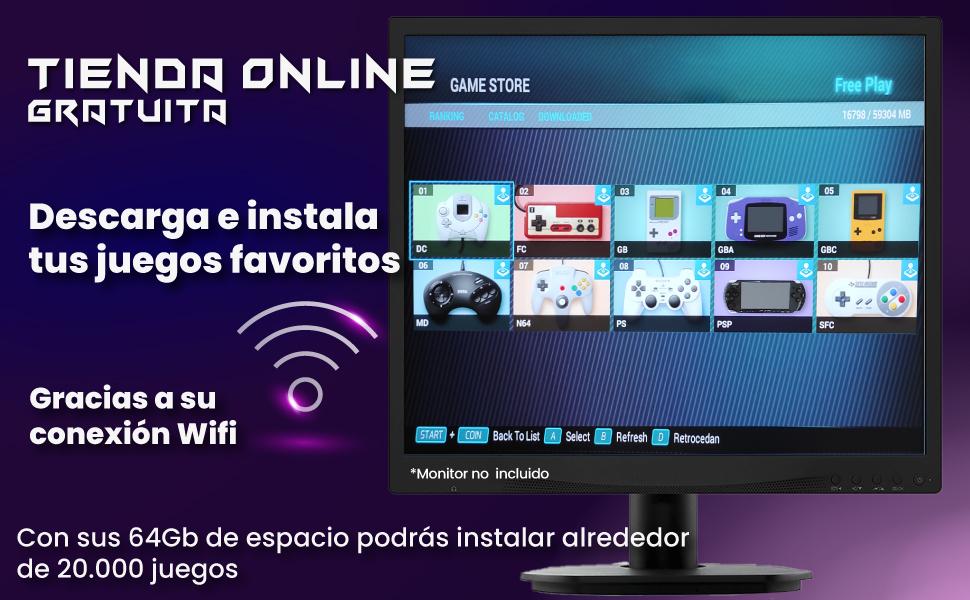 pandora box wifi, pandora box añadir juegos, pandora box unicview, pandora box 8000 juegos