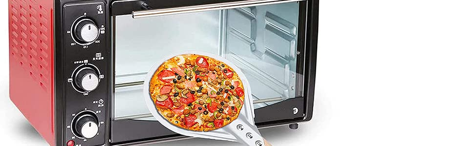 Convenient to turn pizza over in small oven