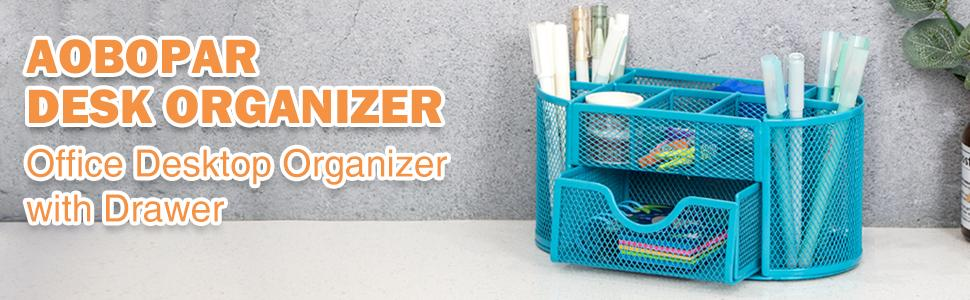 Aobopar Desk Organizer with 9 Compartments