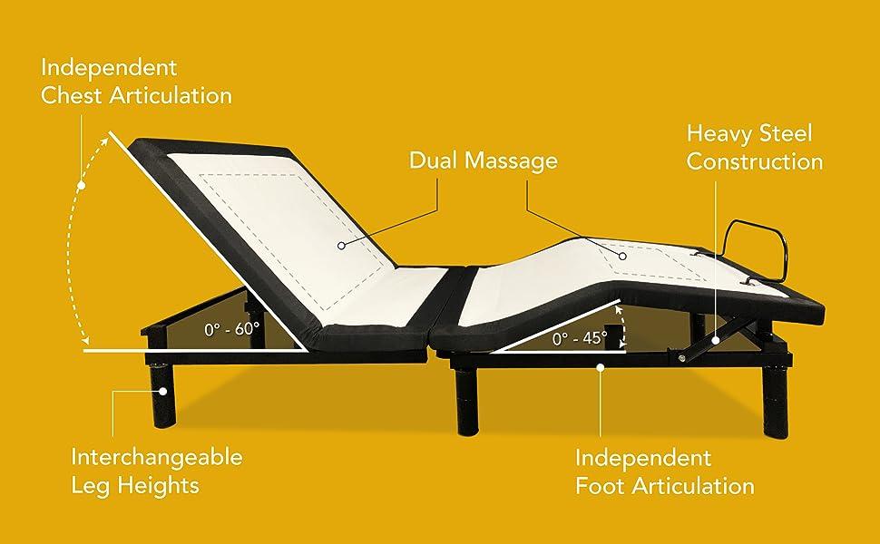 Dual massage. Heavy steel construction