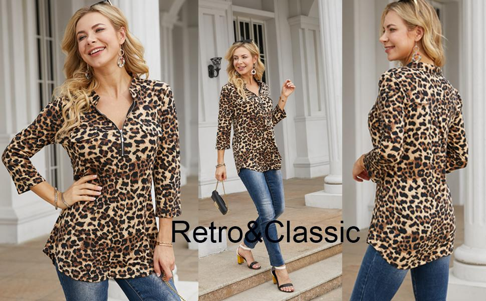 leopard printed tops for women