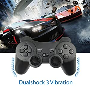PS3 controller upgraded joysticks with force feedback vibration