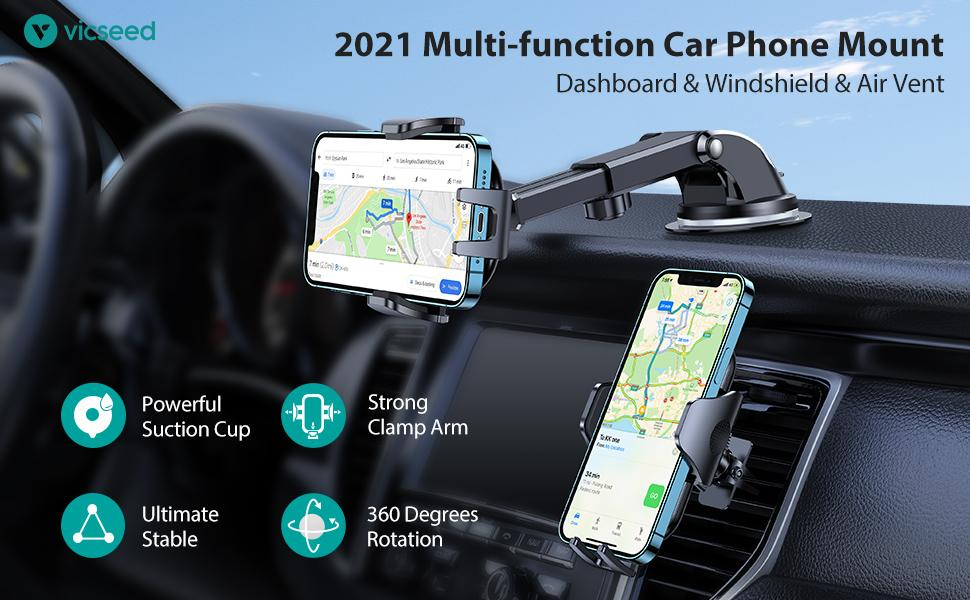 The car phone holder mount is versatile. You can use the car holder in most flat surfaces.