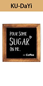 Pour Some Sugar On Me Framed Block Sign Rustic
