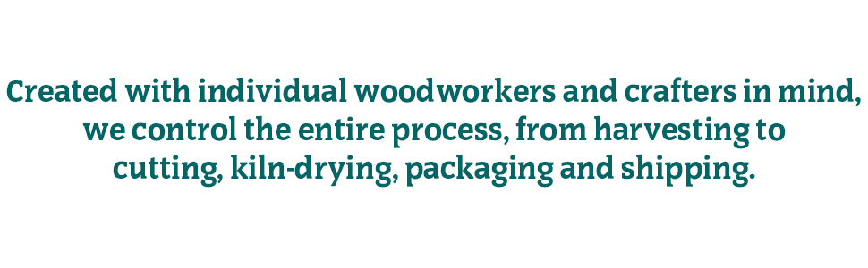 Created for individual woodworkers and crafters in mind.