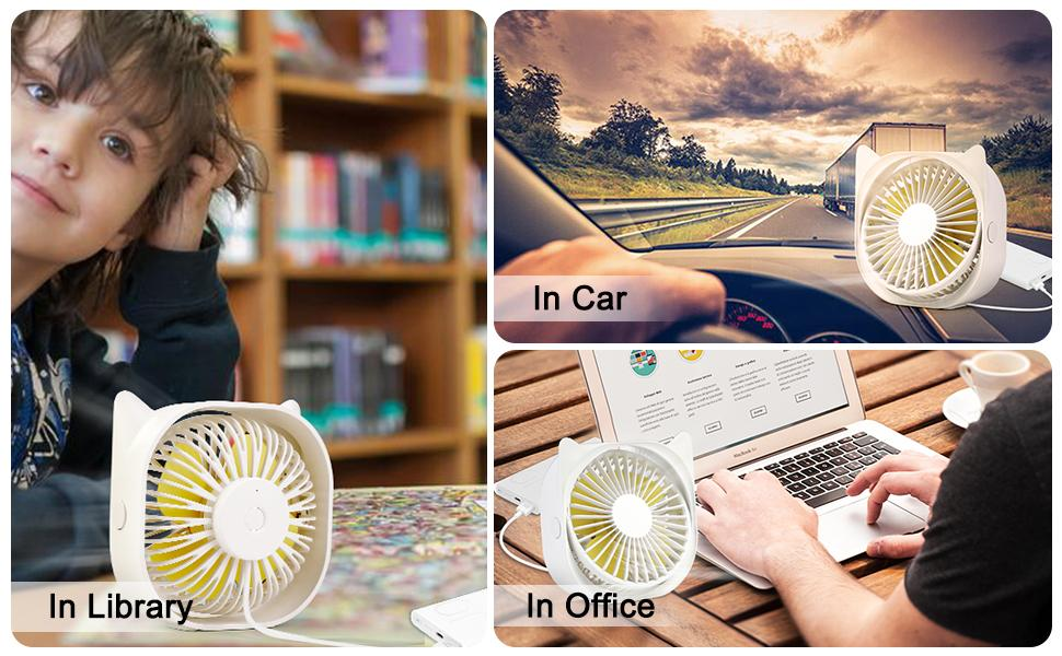Outgeek Usb Fan is suitable for a variety of scenarios, in the car, in the library, in the office.
