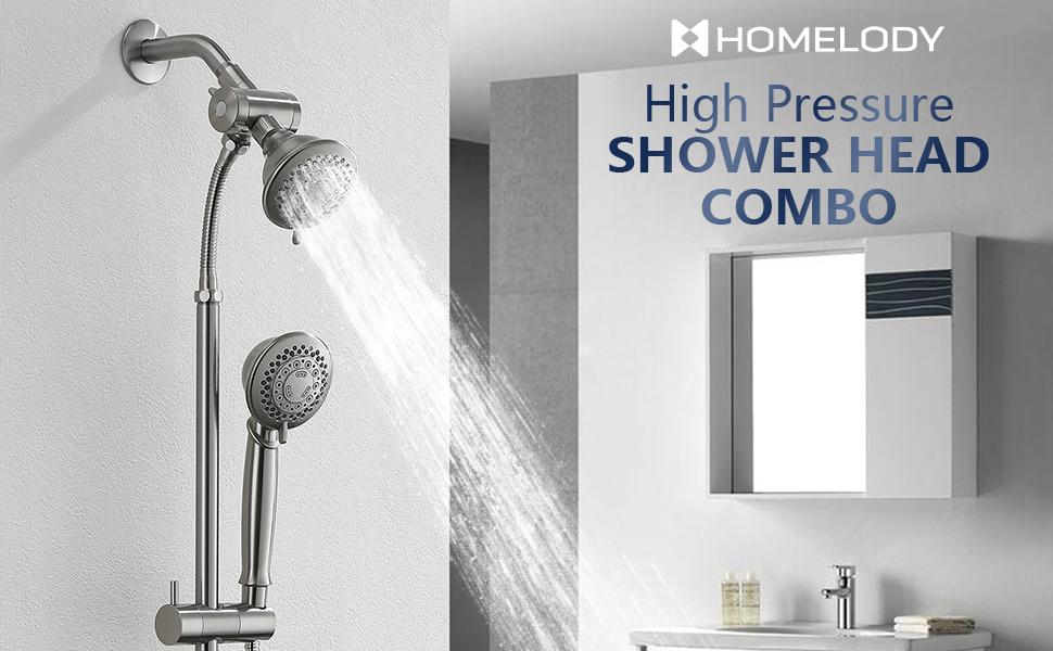 High pressure shower head combo