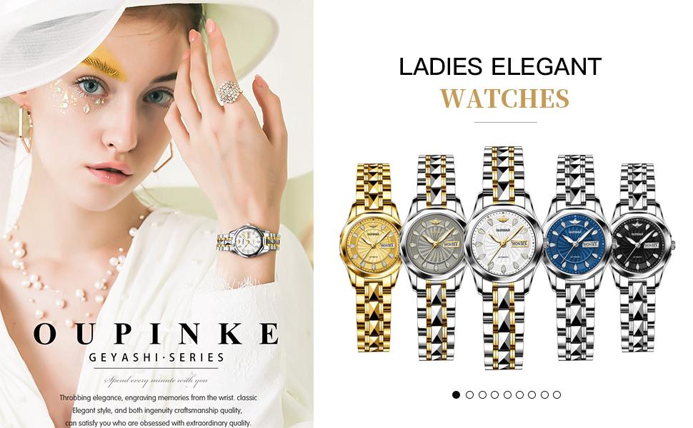 OLEVS Swarovski Diamond Crystal Rhinestone Women's Watch