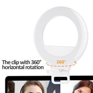 360 degree rotation selfie ring light