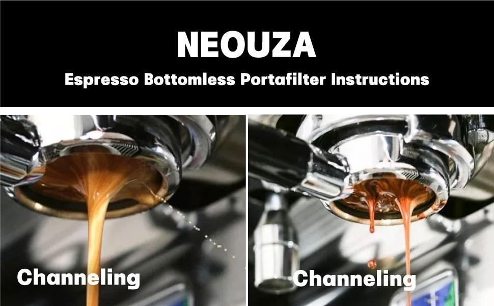 Bottomless Portafilter is specially designed for checking the coffee extraction process.