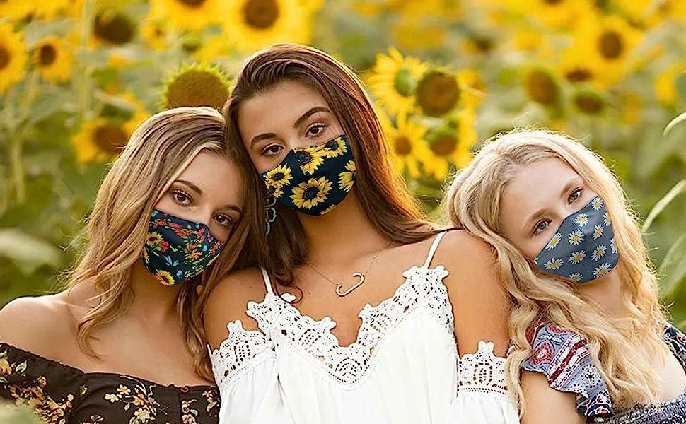 Sunflower Face Mask For Women