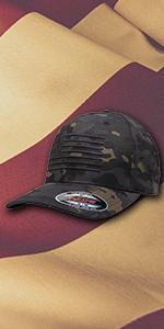 blackout flag multicam hat