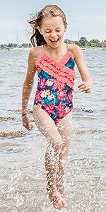 Girls Hawaiian Straps Swimwear