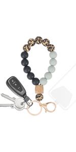 key ring bracelet keychain bracelet wristlet wrist lanyard cell phone charm