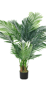 artificial palm tree in pot faux palm tree with planter potted fake palm tree for room decor