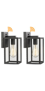 Dusk to Dawn outdoor square wall light fixture 2 Pack