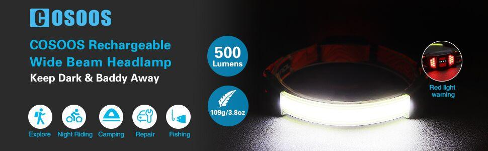 headband light rechargeable headlamp flashlight for working camping adults kids headlight hardhat