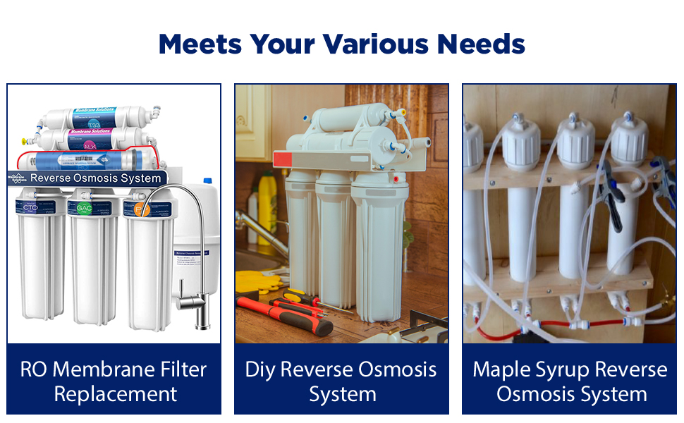 Reverse Osmosis Membrane with Membrane Housing application