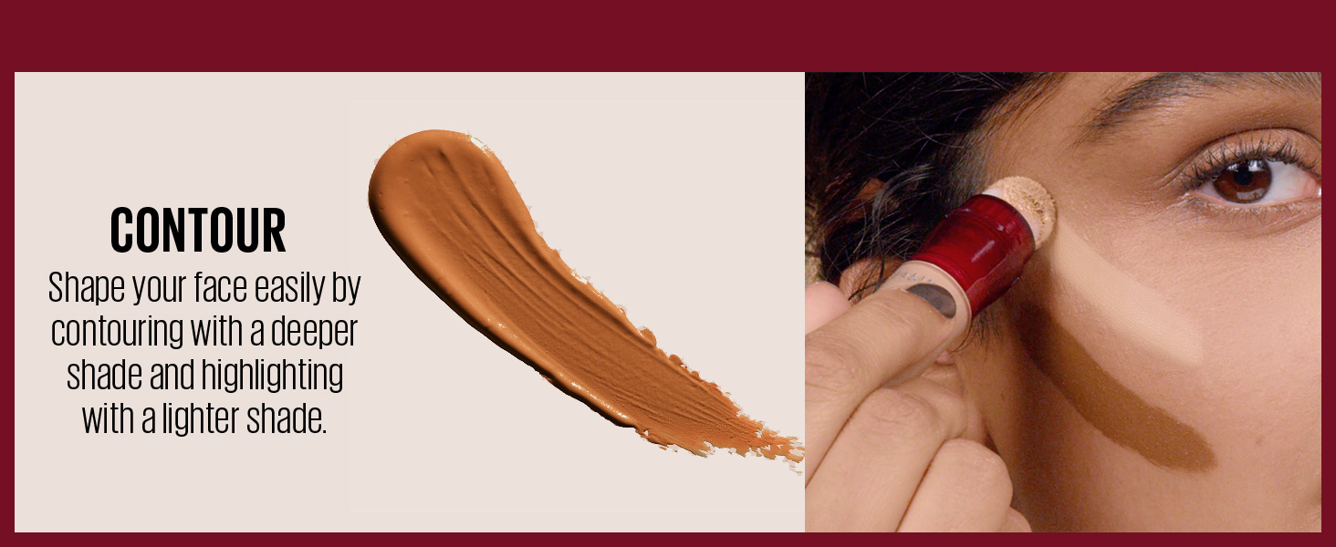 contour - Shape your face easily by contouring with a deeper shade and highlighting