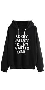 hoodies for women pullover letter graphic