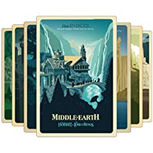 middle earth ultimate collector's edition travel poster art cards
