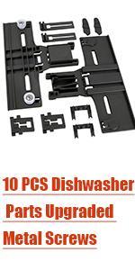 10 PCS Dishwasher Parts Upper Rack