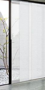 GoDear Design Semi-sheer Sliding Door Panel Track Blind, Eclipse