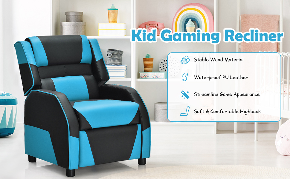 Kids gaming recliner chair