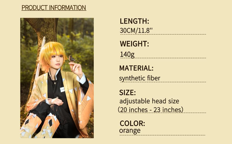 Zenitsu Cosplay Wig information