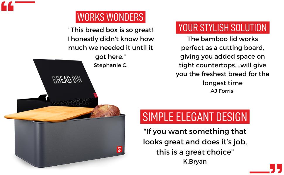 Kensington London - Space Saving Bread Box and Chopping Board