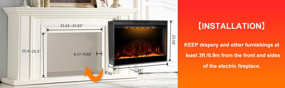 Mystflame Electric Fireplace