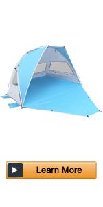 lightweight portable beach tent