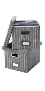 2pcs gray file box