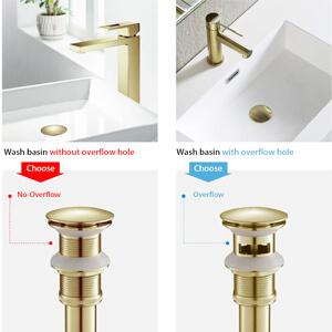 bathroom sink drain stopper brushed gold